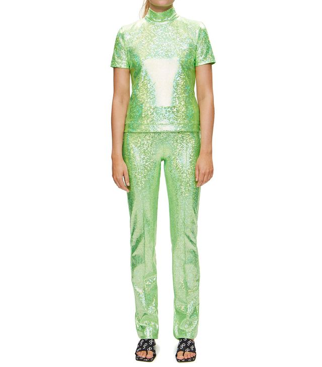 Saks Potts Ice Poison Green Top