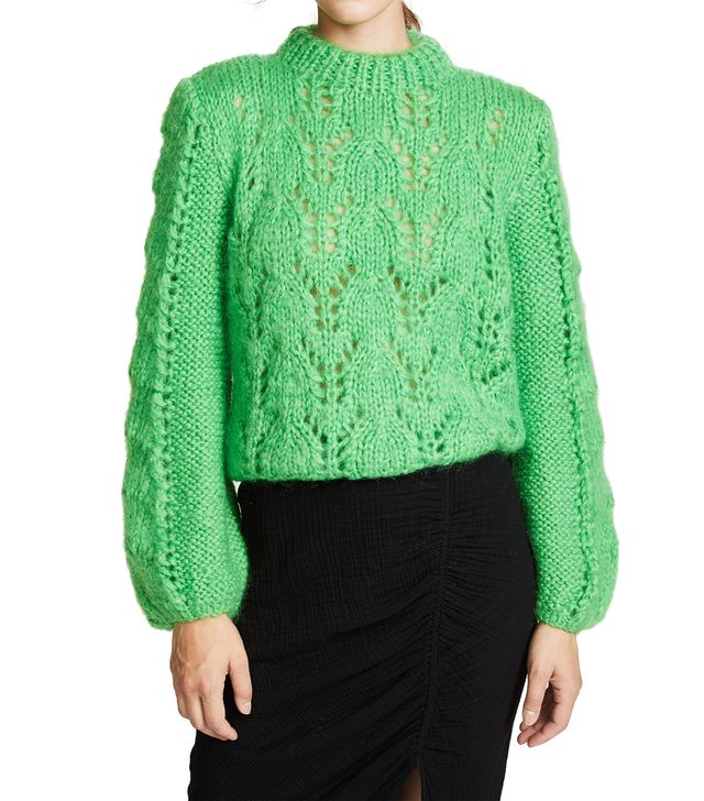 Ganni Julliard Cable Knit Sweater