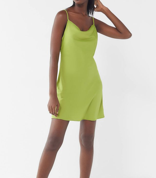 Urban Outfitters UO Mallory Cowl Neck Slip Dress