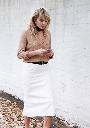 d655e75f220b The 10 Chicest Pencil Skirt Outfits for Winter | Who What Wear