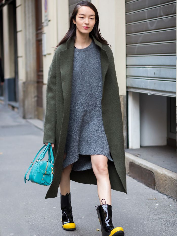 f1d17f7d82949 The 13 Coziest Sweater Dress Outfits for Winter | Who What Wear
