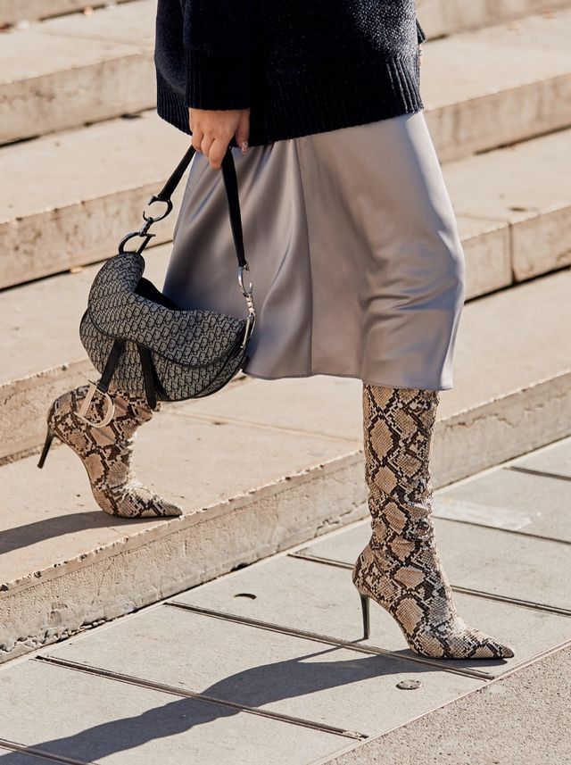 Fall Shoe Trends: High Heel Snakeskin Boots