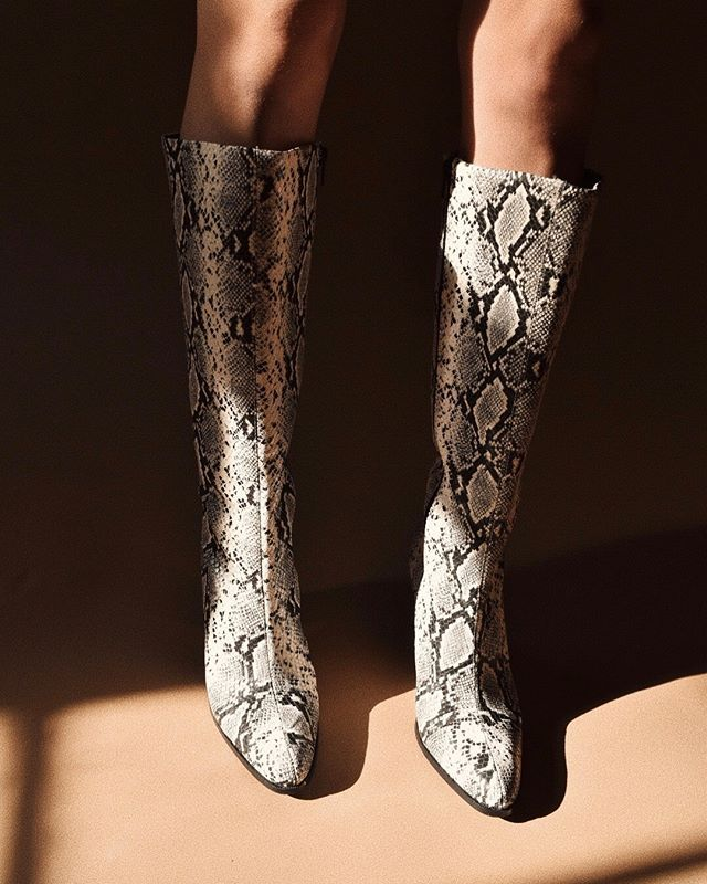 Fall Shoe Trends Snake Boots