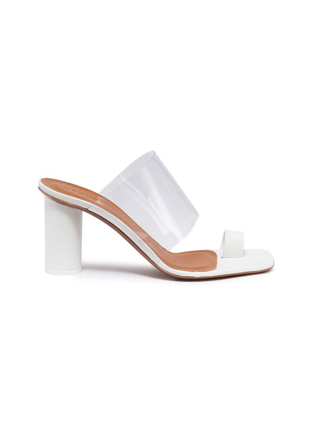 Neous Chost PVC Band Leather Toe Ring Sandals