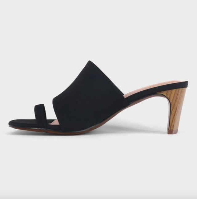 Who What Wear Ruth Toe Ring Wood Heeled Pumps