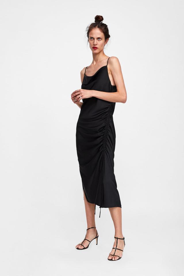 Zara Draped Lingerie-Style Dress
