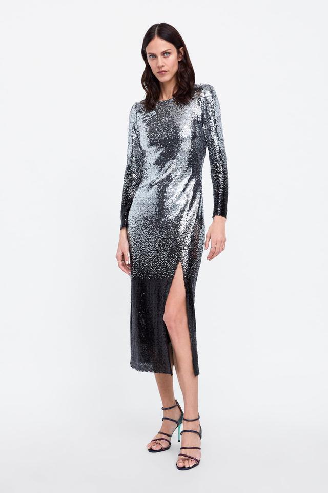 Zara Ombre Sequin Dress