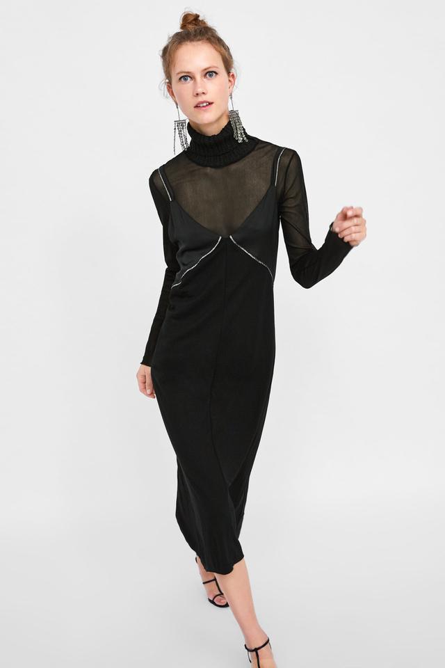 Zara Lingerie-Style Dress
