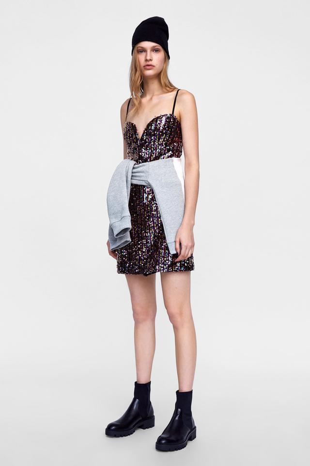 Zara Multicolored Sequin Dress