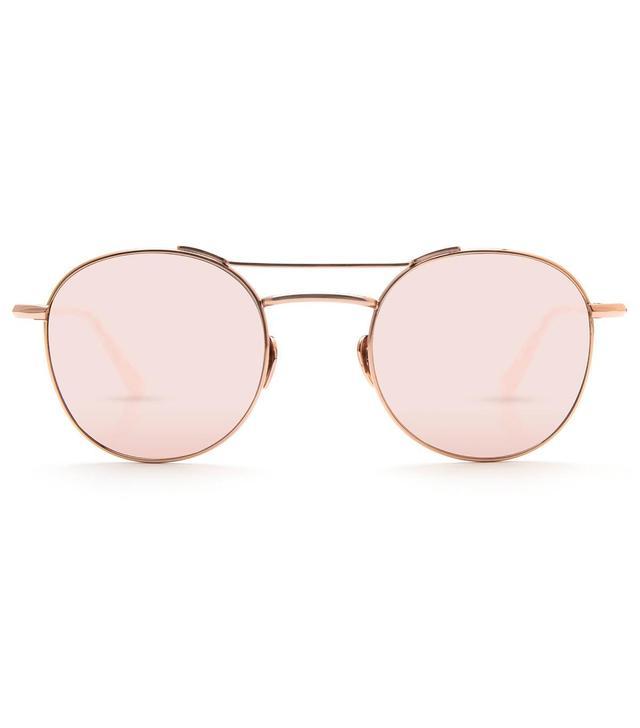 Krewe Orleans Rose Gold Titanium and Camellia Sunglasses