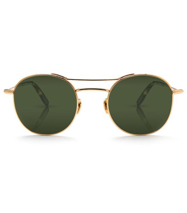 Krewe Orleans 24k Titanium and Zulu Polarized Sunglasses