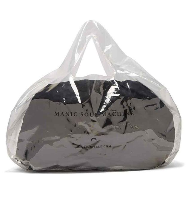 Marine Serre Logo Print PVC Bag