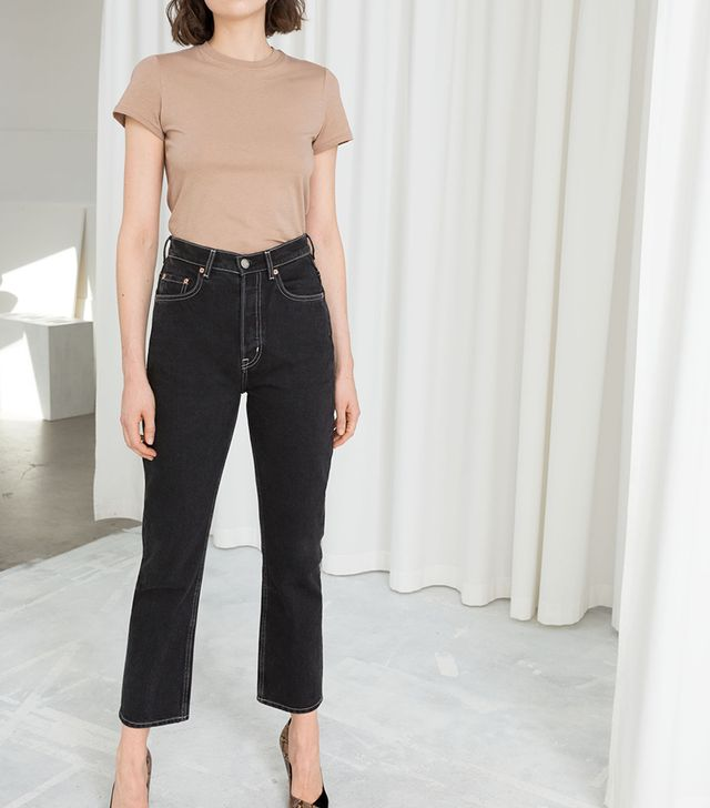 & Other Stories Cropped Straight High Rise Jeans