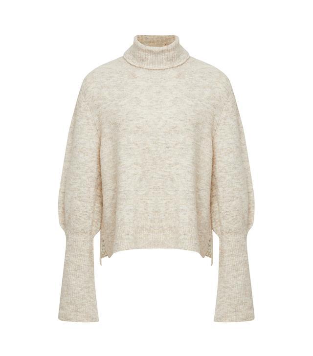 Frame Rib-Knit Turtleneck Sweater