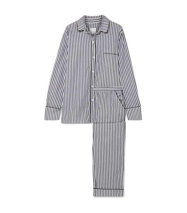 Three J NYC Halle Striped Cotton-Voile Pajama Set