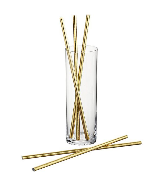 CB2 Gold Straws