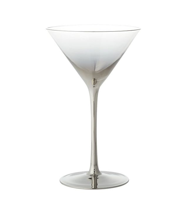 CB2 Irina Platinum Silver Martini Glass