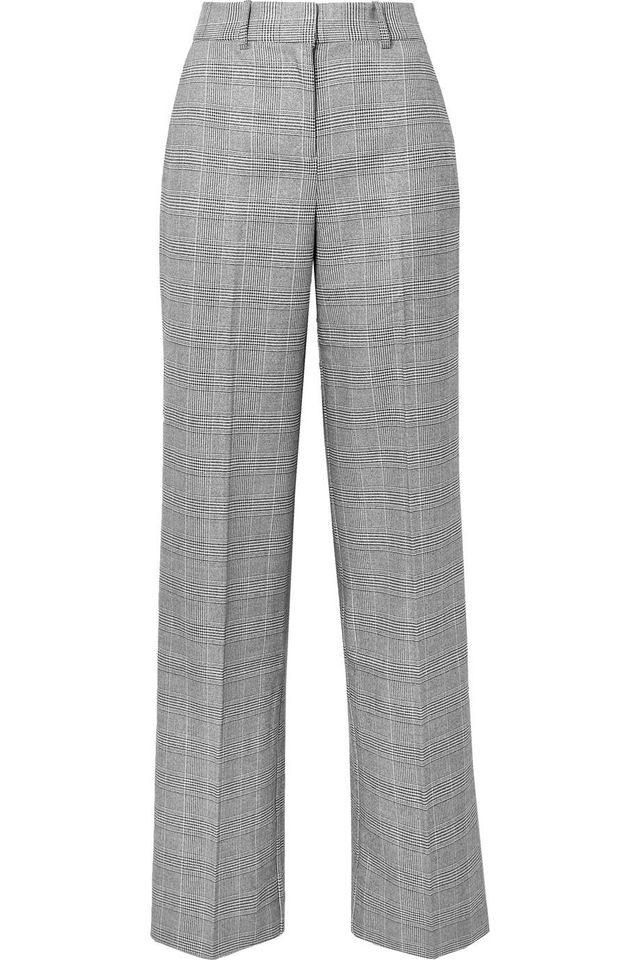Equipment Tabitha Simmons Hyperion Prince Of Wales Checked Voile Wide-leg Pants