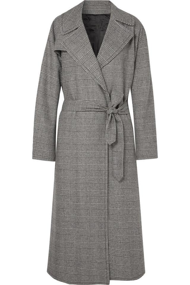 Nili Lotan Topher Distressed Prince of Wales Checked Wool-Blend Tweed Coat