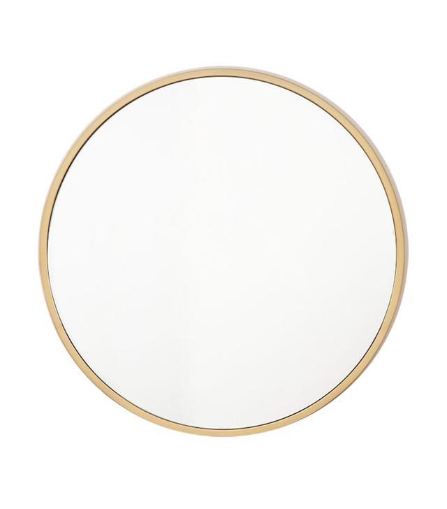 West Elm Metal Framed Oversized Round Mirror