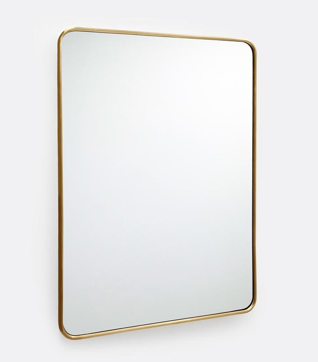 "Rejuvenation 20"" x 30"" Rounded Rectangle Metal Framed Mirror"