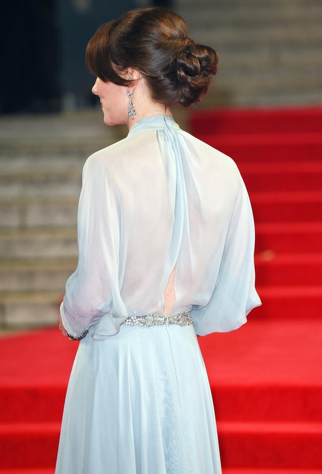 Kate Middleton Sheer-Back Dress