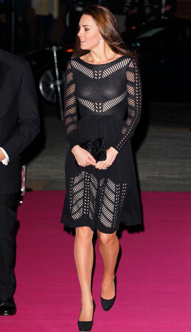Kate Middleton Cutout Sheer Dress