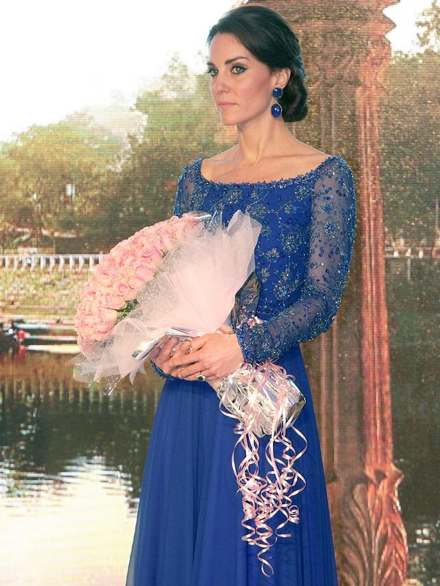 Kate Middleton Jenny Packham Blue Dress