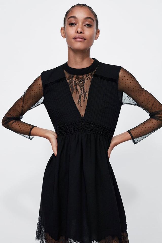 Zara Mixed Fabric Dress