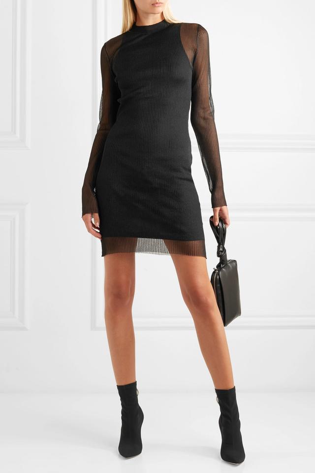 Dion Lee Ribbed-Knit Mini Dress