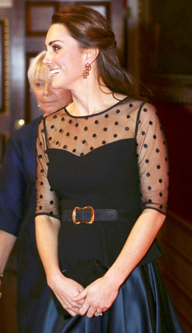 Kate Middleton Polka-Dot Sheer Dress