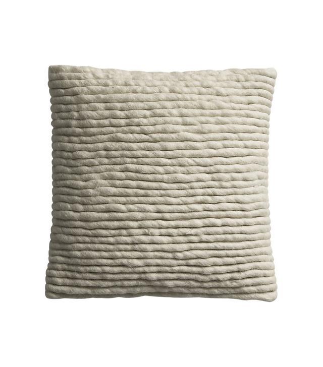 CB2 Wool Wrap Pillow