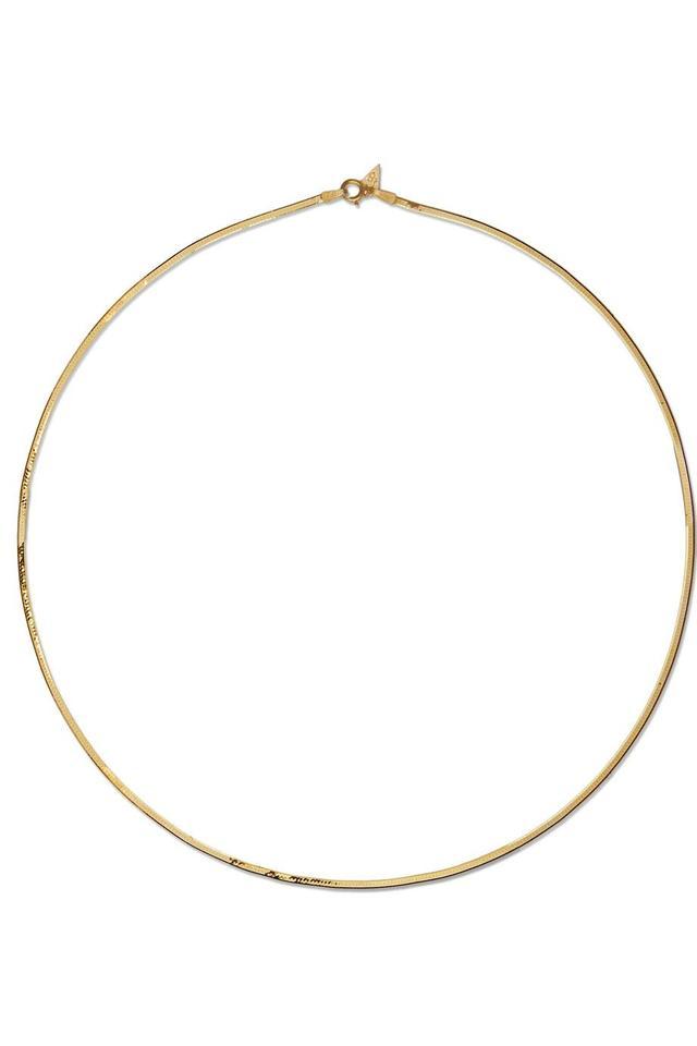 Loren Stewart Herringbone 10-karat Gold Necklace