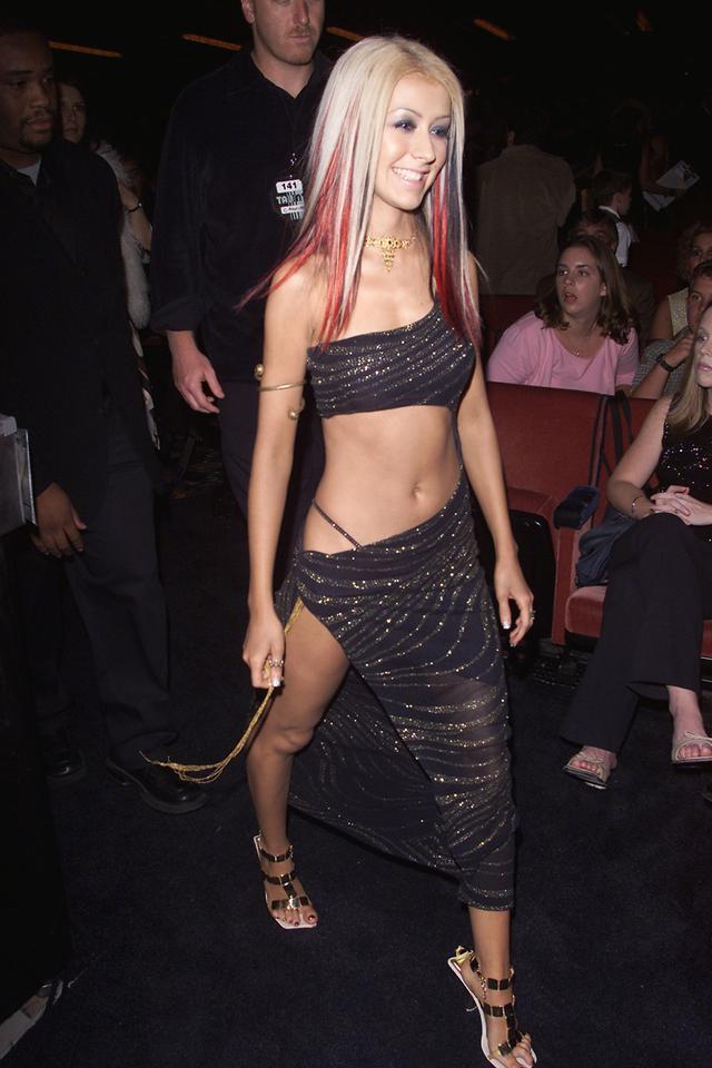 Christina Aguilera exposed thong