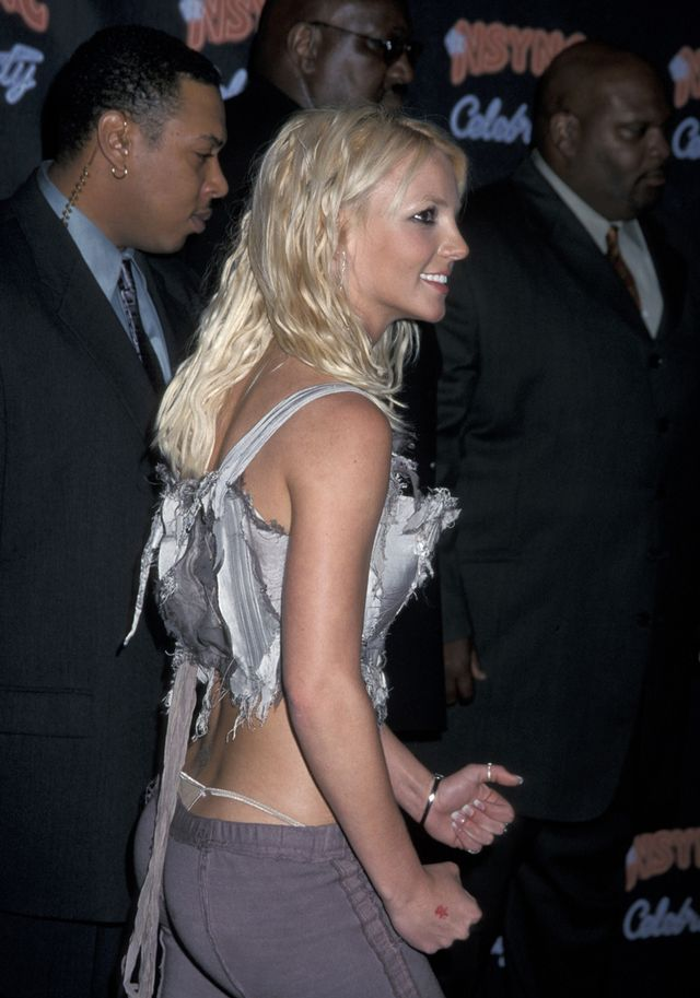 Britney Spears, exposed thong with low-rise jeans