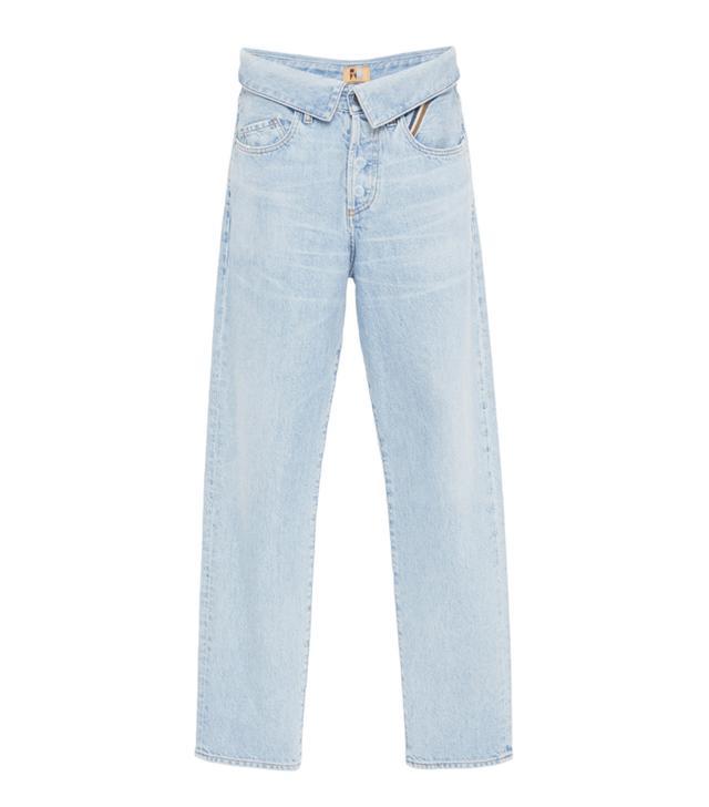 Jean Atelier Flip Top High-Rise Boyfriend Jeans