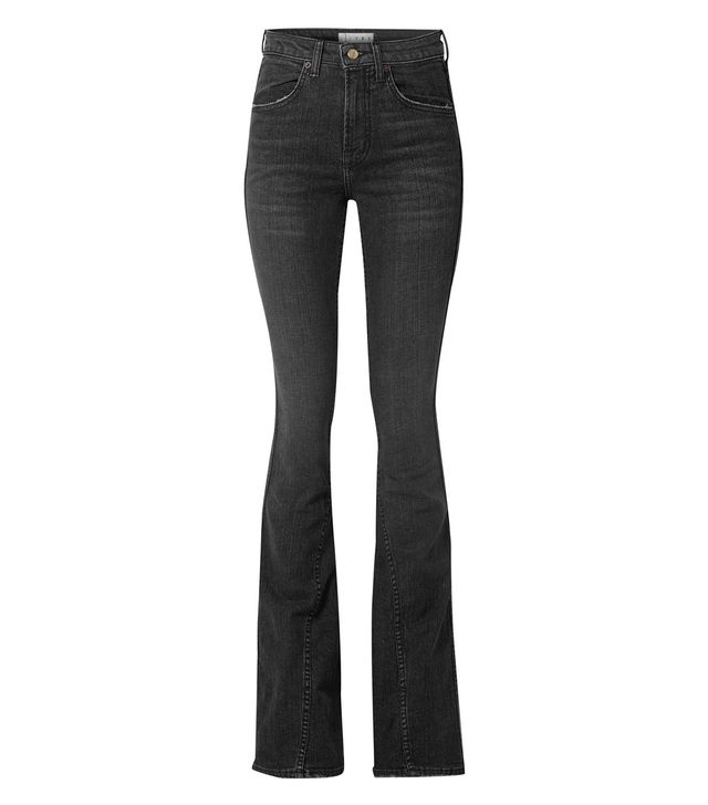 TRE Cher Distressed High-Rise Flared Jeans