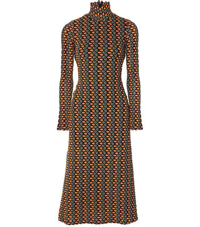 Beaufille Opis Cutout Crochet-Knit Midi Dress