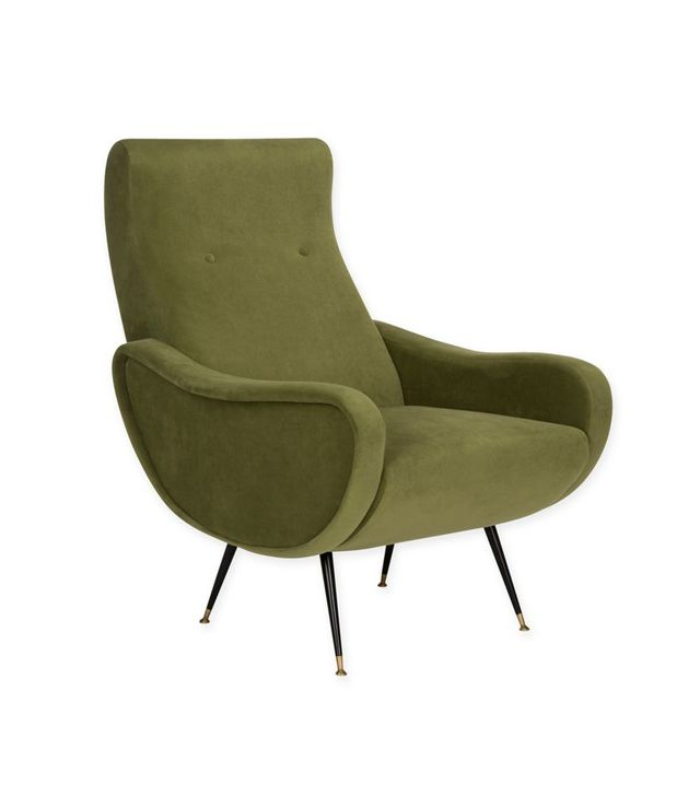 Safavieh Elicia Velvet Retro Mid Century Accent Chair