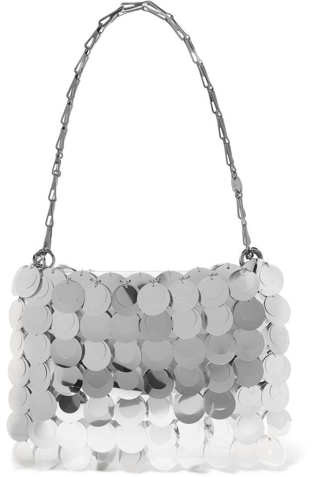 Paco Rabanne Sparkle 1969 Sequined Faux Leather Shoulder Bag