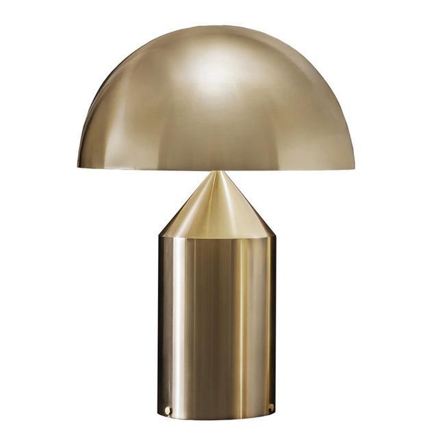 Vico Magistretti Atollo 239 Table Lamp, Gold