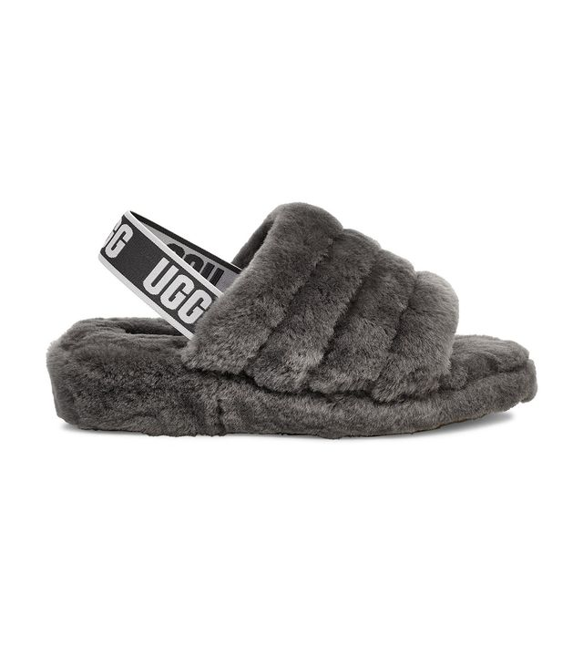 Ugg Fluff Yeah Slides in Charcoal