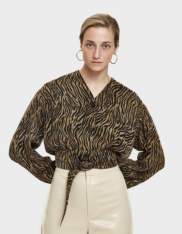 Nanushka Dasha Belted Shirt
