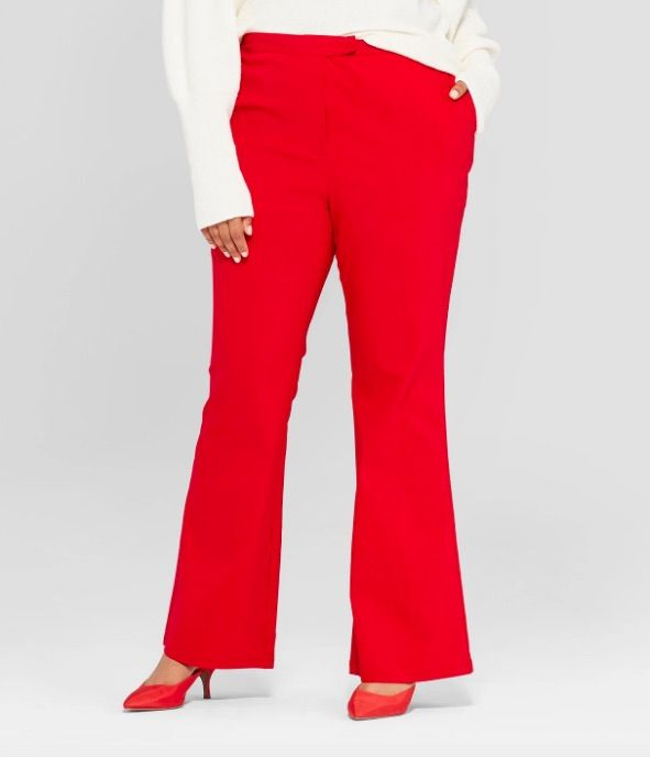 Who What Wear Plus Size Classic Bootcut Trousers