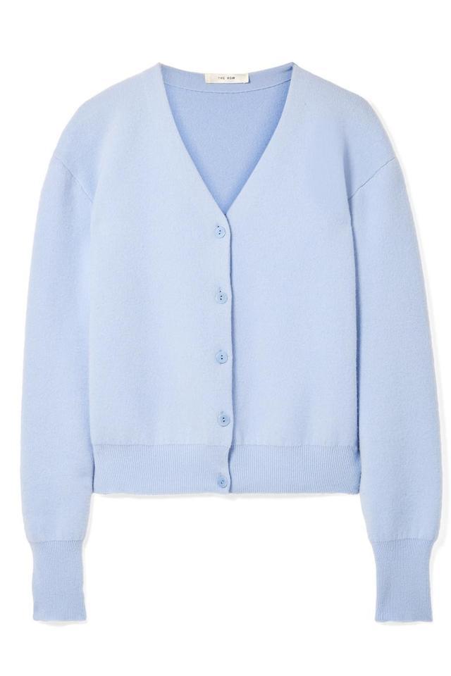 The Row Nesta Merino Wool and Cashmere-Blend Cardigan