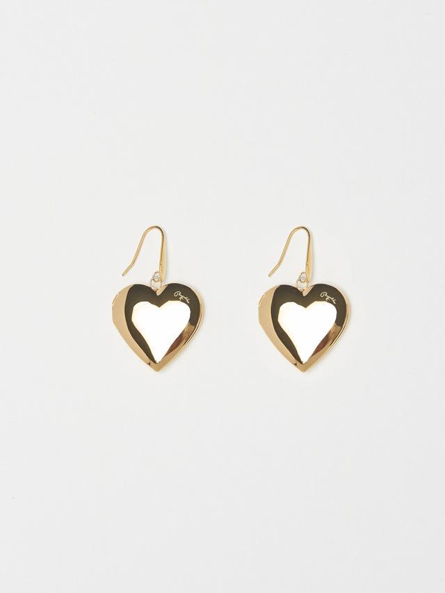 Bagatiba Heart Locket Drop Earrings