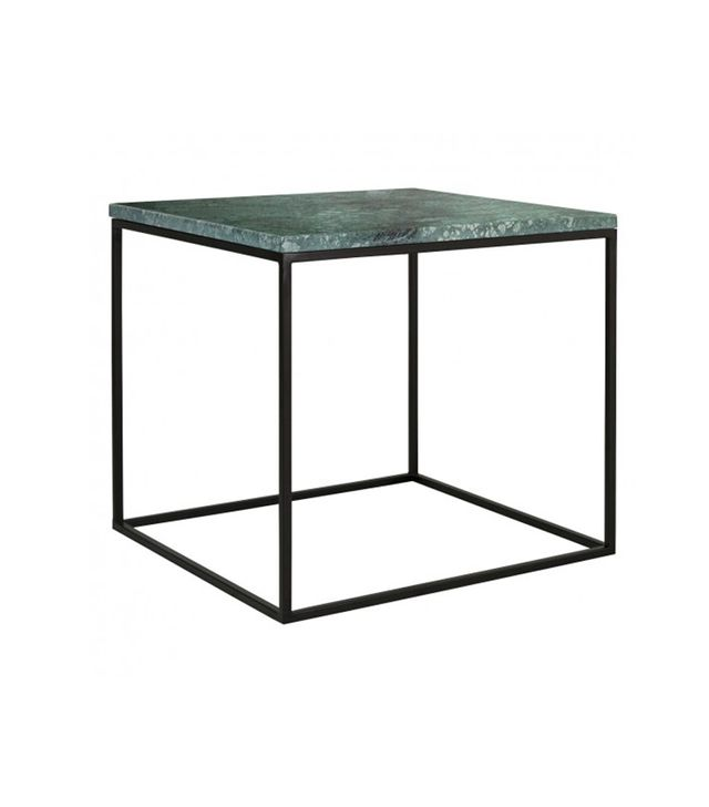 Nestor Green Marble Square Side Table