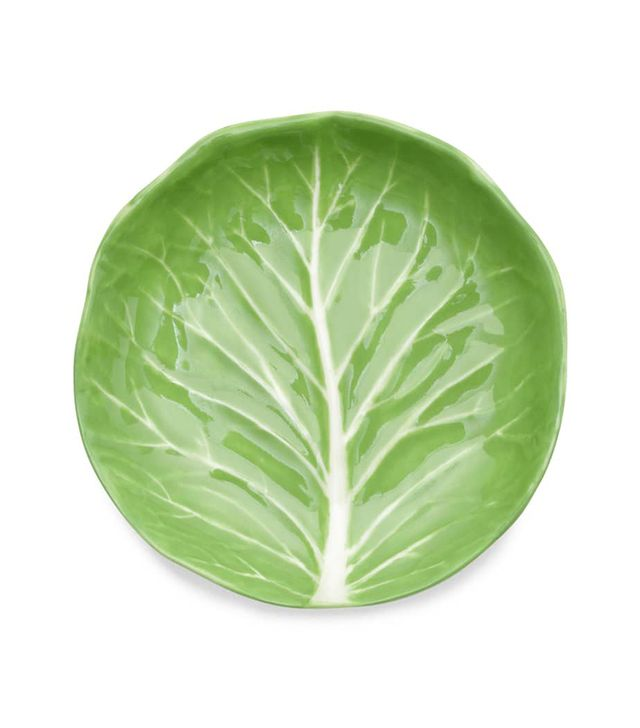 Tory Burch Set Of 4 Lettuce Ware Canape Plates