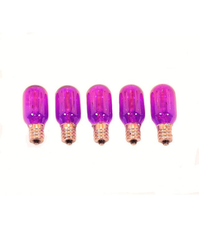 Himalayan Certified Salt Experts Purple Himalayan Rock Salt Lamp Incandescent Bulbs