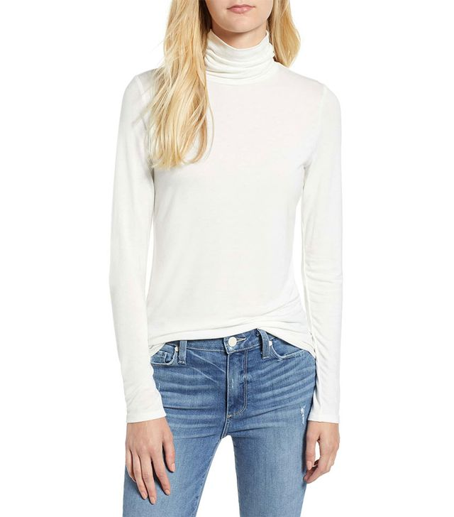 Lou & Grey Softened Jersey Turtleneck